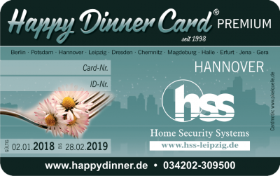 Happy Dinner Card PREMIUM Hannover 2018/2019