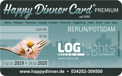 Happy Dinner Card PREMIUM Berlin/Potsdam 2019/2020
