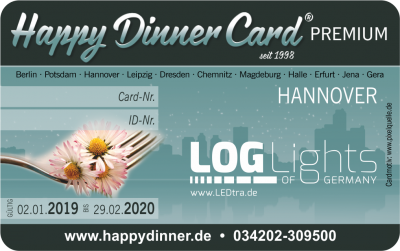 Happy Dinner Card PREMIUM Hannover 2019/2020