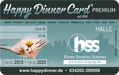 Happy Dinner Card PREMIUM Halle 2019/2020