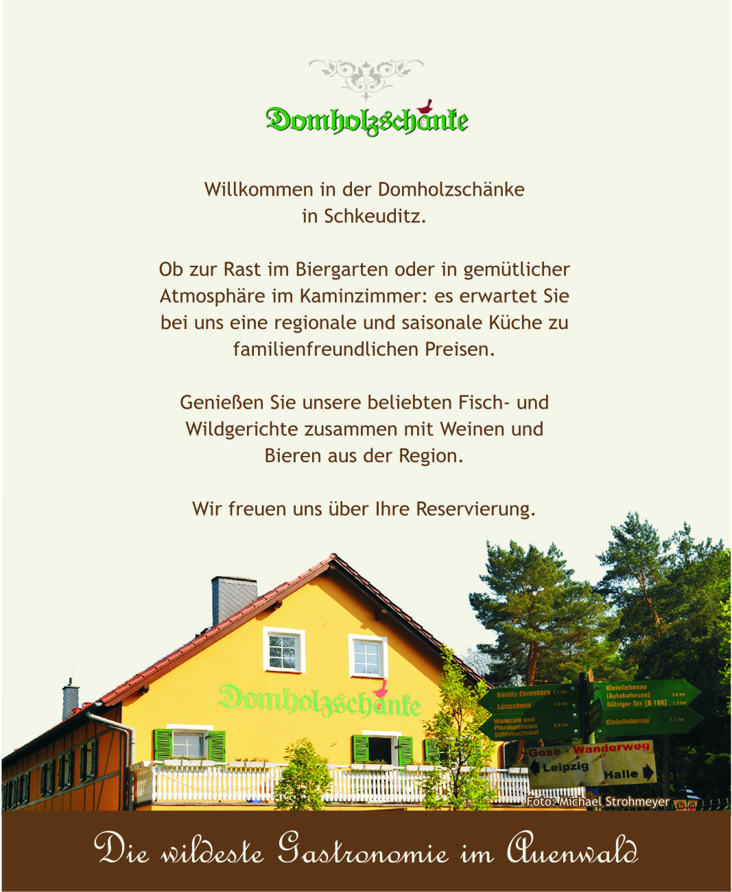 Domholzschänke ✓ Öffnungszeiten ✓ Anfahrt – Happy Dinner Card